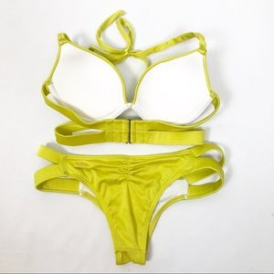 Victoria's Secret Swim - Victoria's Secret Mustard Pushup Bikini